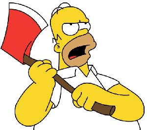 Homer Simpson Angry