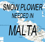 snow plowing in malta
