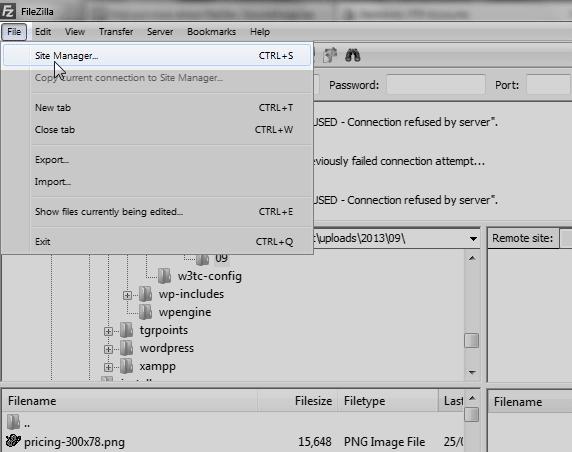 Filezilla Configuration