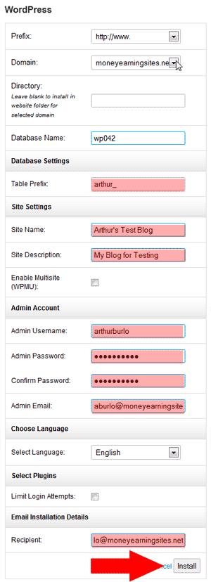 Configure Blog