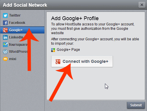 Google Plus Authorization