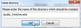 Choose New Directory Name
